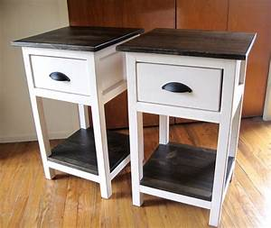 Ana White Mini Farmhouse Bedside Table Plans - DIY Projects