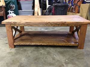 rustic coffee table by tom56 lumberjockscom With log cabin style coffee tables