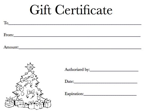 holiday gift certificate template  iwork templates