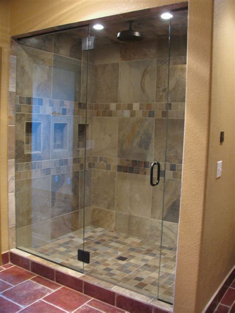 Walk In Shower Materials replaced oversized tub with custom walk in steam shower