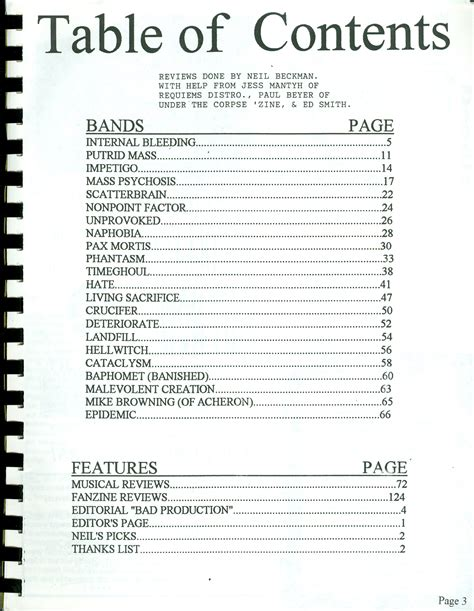 Table Of Contents Send Back My Sts