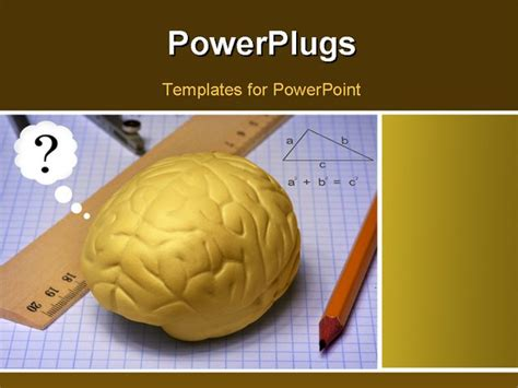study  brain powerpoint template background  studying