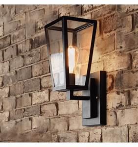 Appliques Murales Interieur : applique murale en verre design lanterne noire sirel ~ Teatrodelosmanantiales.com Idées de Décoration