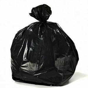7 10 Gallon Black Trash Bags 12 Mil 24quotx24