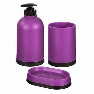 Set De Salle De Bain : set de salle de bain 3 pi ces violet maison fut e ~ Teatrodelosmanantiales.com Idées de Décoration
