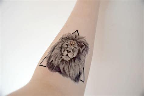 large temporary tattoo lion animal