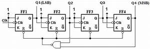 4  Mod10  Decade Or Bcd  Asynchronous Up Counter Circuit