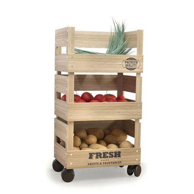 kitchen vegetable storage rack buy wooden trolley 3 tier kitchen fresh vegetable fruit 6380