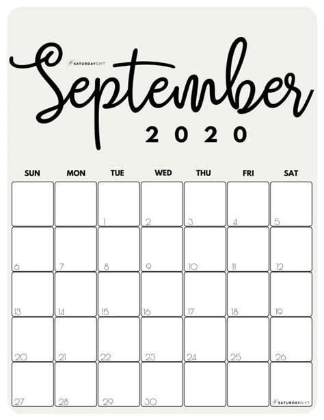printable  calendar  month   cute colors