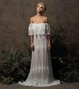 off the shoulder boho wedding dresses siudynet With bohemian wedding bridesmaid dress