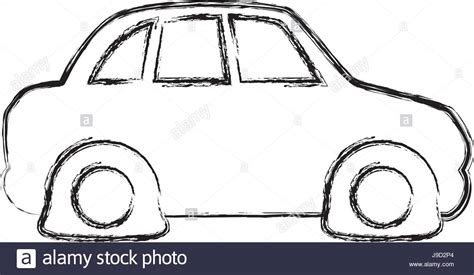 Figure Flat Tire Car To Drive And Travel Stock Vector Art