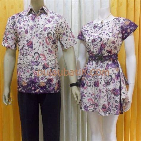 model batik kerja terbaru pasangan couple mini dress
