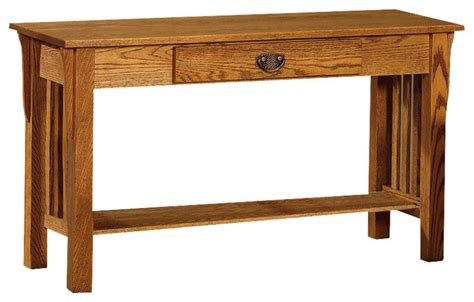 sofa side table oak chelsea home adamstown sofa table in red oak traditional