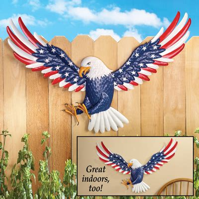patriotic eagle metal wall from collections etc