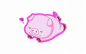 Cute Pig Cartoon Wallpaper