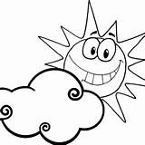 Coloring Sun Sunrise Clouds Clipart Moon Smiling Behind Drawings Designlooter Play Clipartbest Protect 300px 16kb sketch template