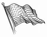 Flag Coloring Printable Drawing States United Line Flags Patriotic Adult Getdrawings sketch template