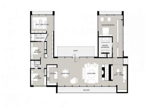 Ushaped One Story House U Shaped House Plans, Garden Home