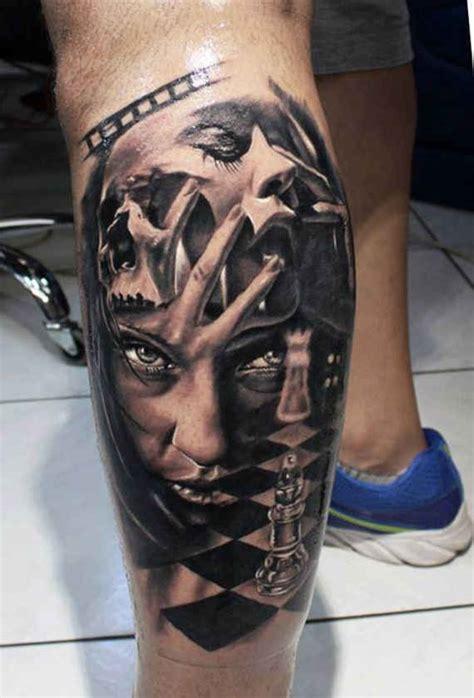 fashionable  wonderful leg tattoos  designs