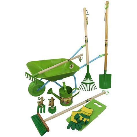 children s garden tools set childrens wheelbarrow garden tools and watering can set