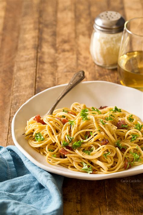 Spaghetti Carbonara Dinner For Two  Homemade In The Kitchen