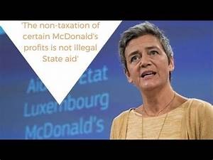 Luxembourg's tax deal with McDonald's is not illegal state ...