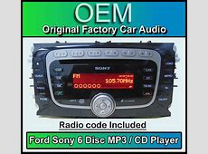 Ford Focus car stereo 6 Disc CD player, Ford Sony CD MP3