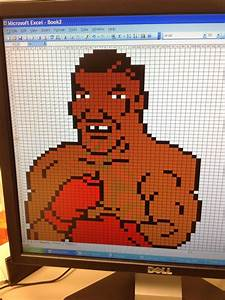 Slow Day At Work No Photoshop Why Not Excel Mike Tyson