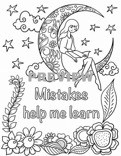 Pages Positive Affirmations Colouring Sample Yet