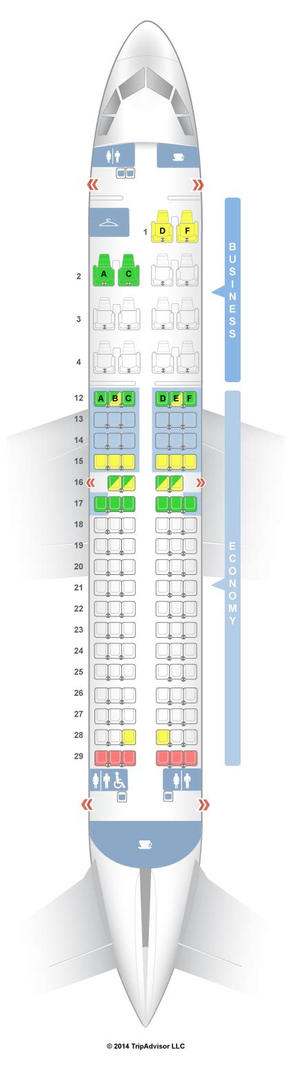 plan siege avion easyjet seatguru seat map air canada airbus a319 319