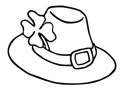 hat coloring page leprechaun hat coloring pages st s day