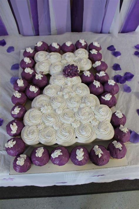 Purple Bridal Shower Cakes and Cupcakes