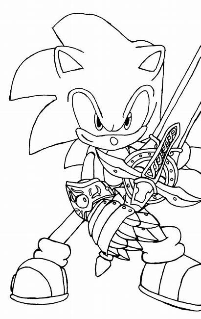 Coloring Sonic Pages Hedgehog Printable
