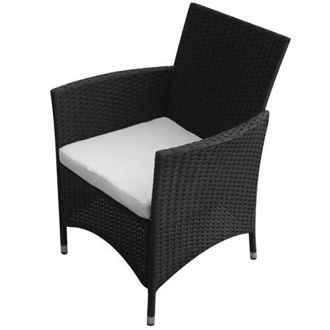 table 6 chaises la boutique en ligne ensemble table 6 chaises rotin noir