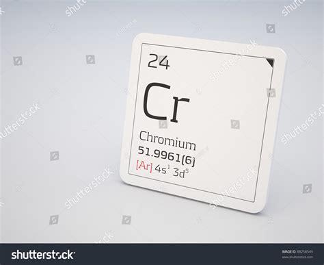 Chromium  Element Of The Periodic Table Stock Photo