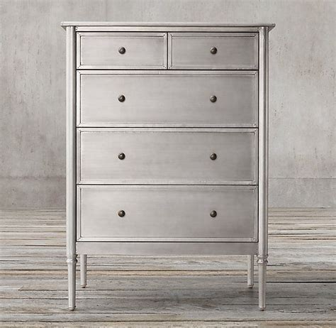 Spencer Metal 5 drawer narrow dresser   Decorating Ideas