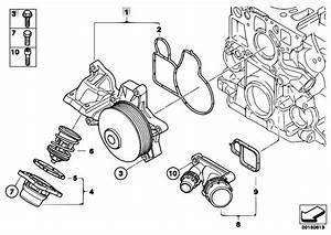 Original Parts For E60n 520d N47 Sedan    Engine   Waterpump