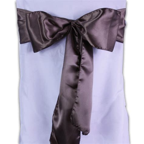 chocolate brown satin chair sashes pack of 10