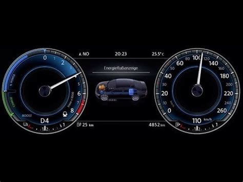volkswagen vw golf gte  digital dash youtube