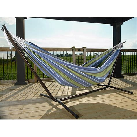 Hammock Stand Lowes by Shop Vivere Oasis Fabric Hammock Stand Included At Lowes