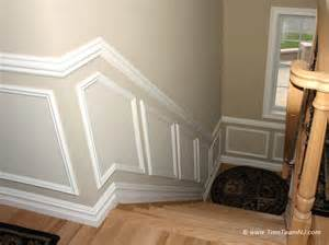 kitchen cabinet crown molding ideas wainscot and picture frames contemporary staircase