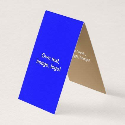business card folded tent  royal blue gold zazzlecom