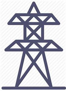 Electricity, generation, lines, power, station, tower icon ...