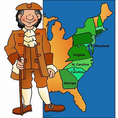 Colonies Clipart Southern States Colonial United Clip