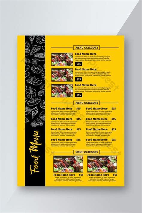 food menu book flyer psd   pikbest