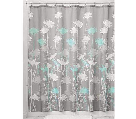 daizy shower curtain gray mint shower curtains
