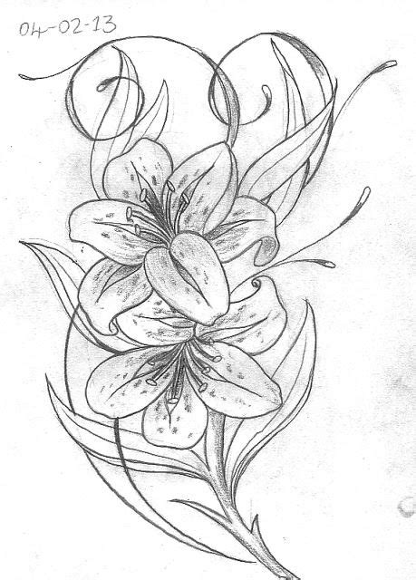 tattoos with lilies on them | Day 35. Basic Lily layout
