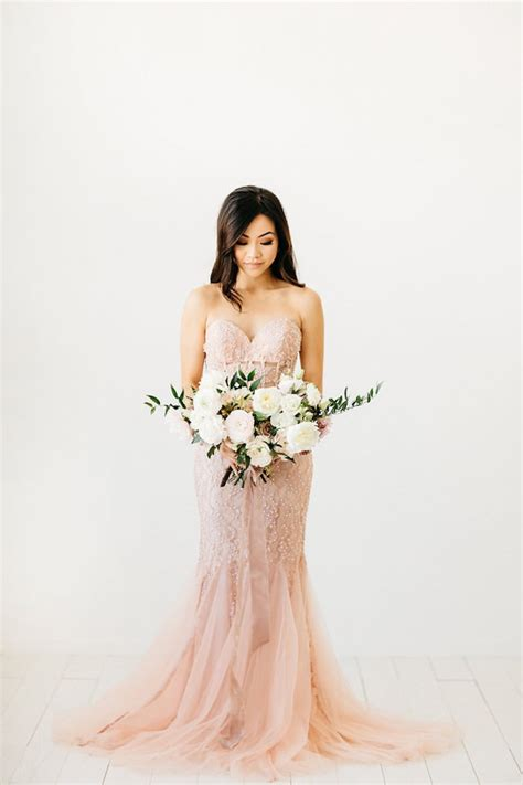 beautiful indoor bridal session   knockout gowns