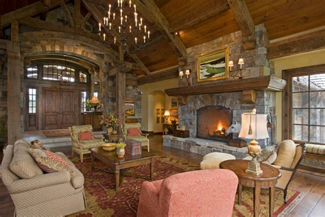 rustic traditional living room tung and groove living room rustic with area rug armchairs Rustic Traditional Living Room