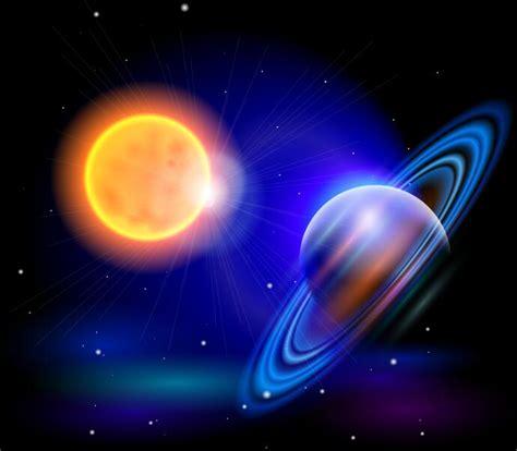 sun  saturn background vector